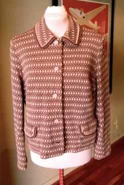 Vintage 1960s Glaser Jersey Wool Jacket - L