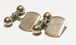 Vintage 1930s Cuff Links with Dumbbell Shank