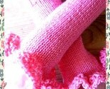 Hand Knitted Frilly Wrist Arm Warmers (In a choice of colors)