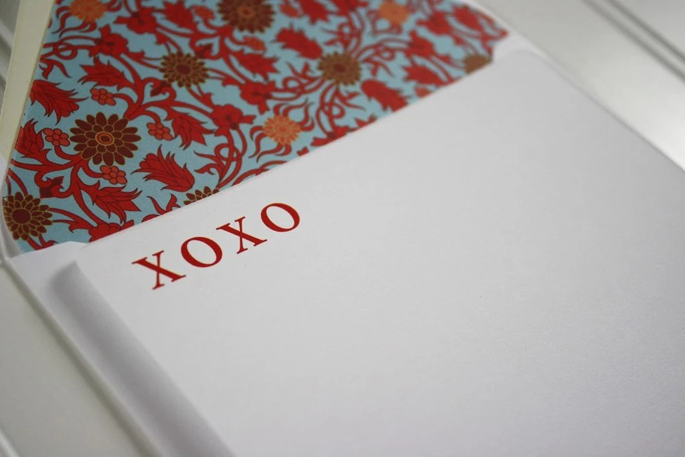 XOXO Note Cards