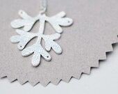 Coral Branch Sterling Silver Necklace
