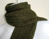 BAILEY- Men's/ Unisex Wool Classic Scarf Green Olive