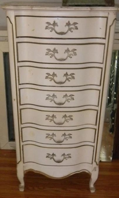 French Provincial Solid Wood 7 Drawer Garment Chest