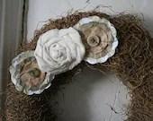 Sweet Little Moss and Muslin Wreath