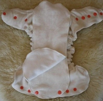 Organic Bamboo Velour One Size Fits All Fitted Cloth Diaper with Extra liners