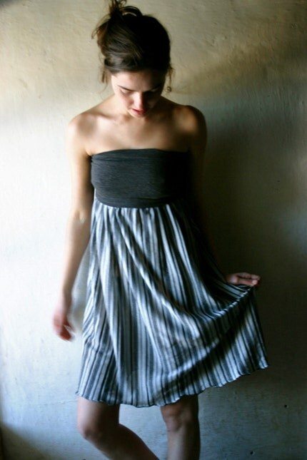 Grey Stripy Dress/Skirt