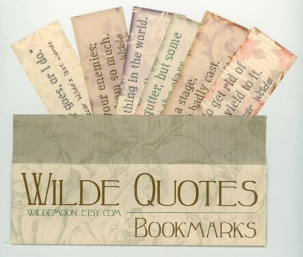 Bookmarks - Oscar Wilde Quotes - Set of 6