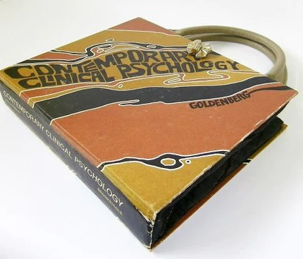 1973 Contemporary Clinical Psychology Book Handbag Purse