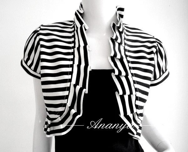 Blacka and White Stripped Bolero by Ananya