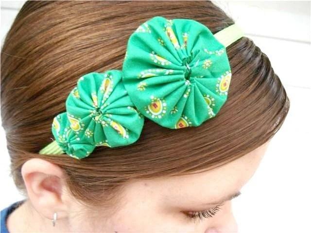 Green  Paisley Yo Yo Headband