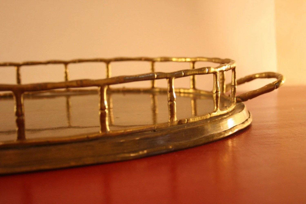 Gold Bamboo Tray