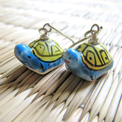 Cute Turtle Couple Earrings