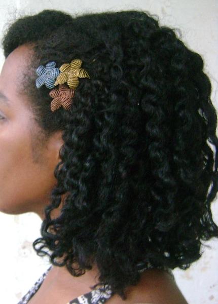 Flower Trio - Beaded Flower Bobby Pins - Ododo Originals