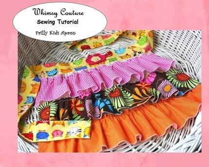 WHIMSY COUTURE Sewing Pattern Tutorial Ebook for KIDS FRILLY APRON PDF