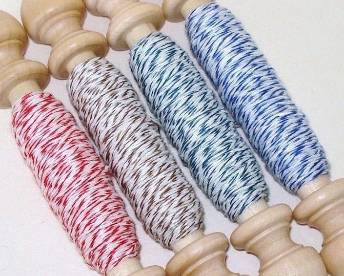 100 Yards of Stringy Things - RED-BROWN-GREEN-BLUE