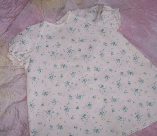 Shabby Chic Blue Rose Baby Dress