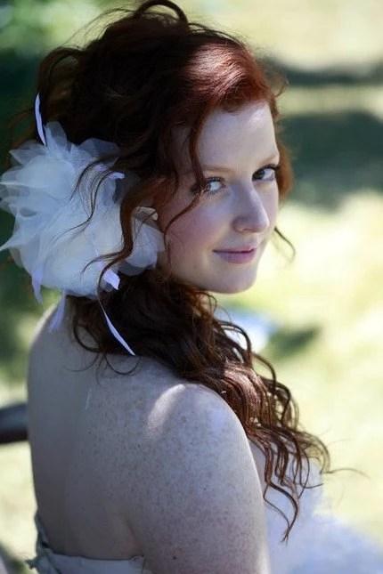 Sophia- White fascinator