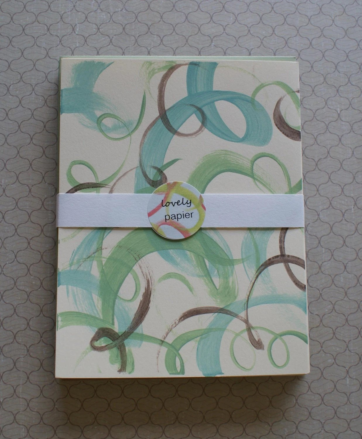 Hand Painted Note Cards, Set of 8