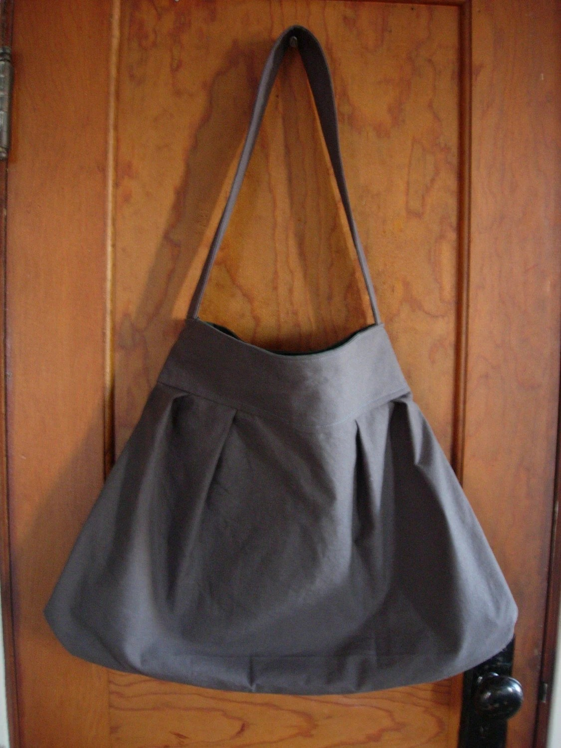 large pleated market bag