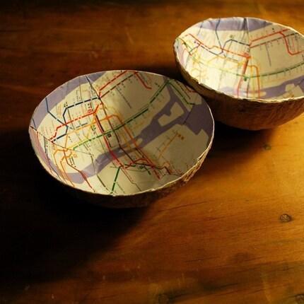 metro map bowl etsy