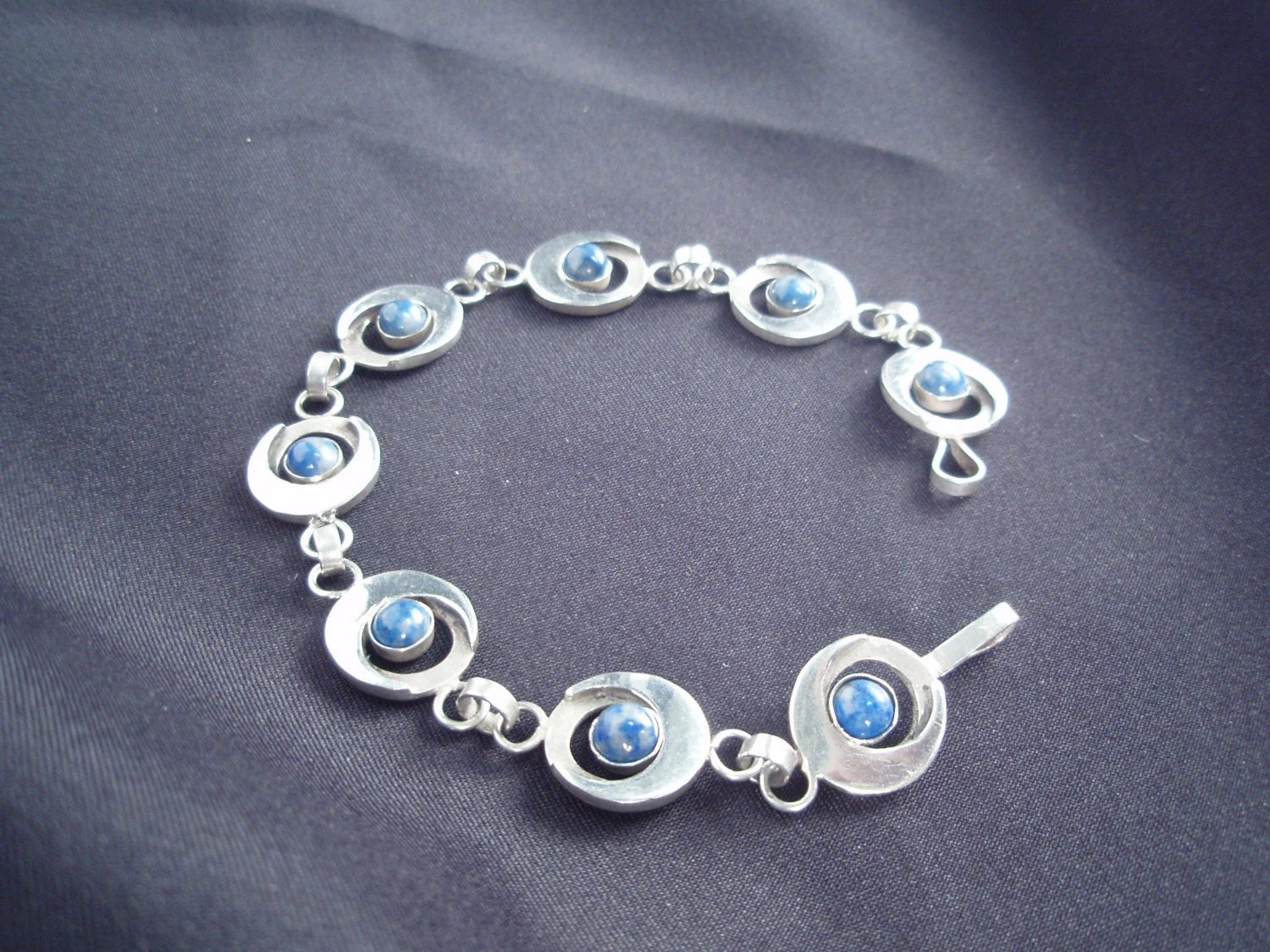 Lapis and Sterling Silver Bracelet