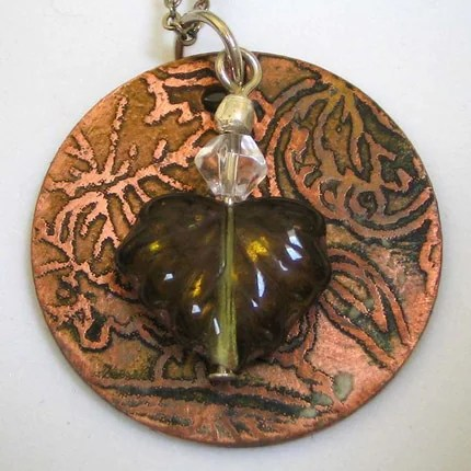 more pinot please etched copper pendant - EBTW SALE