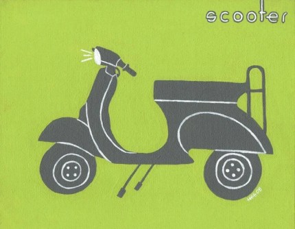 the estate of things chooses scooter print