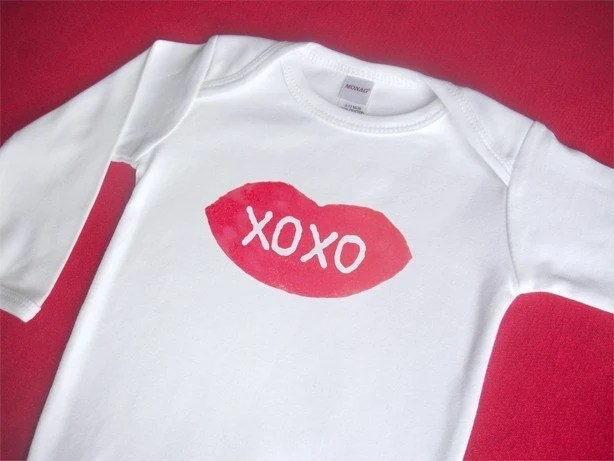 Hugs and Kisses Valentine's Long Sleeve Onesie or T Shirt