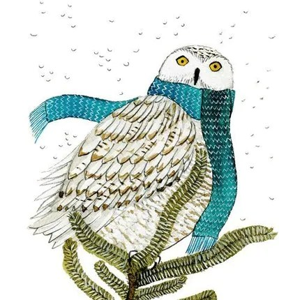 the estate of things chooses white owl print