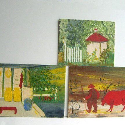 the estate of things chooses vintage acrylic paintings