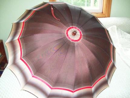 Vintage Ladies Umbrella with Lucite Handle