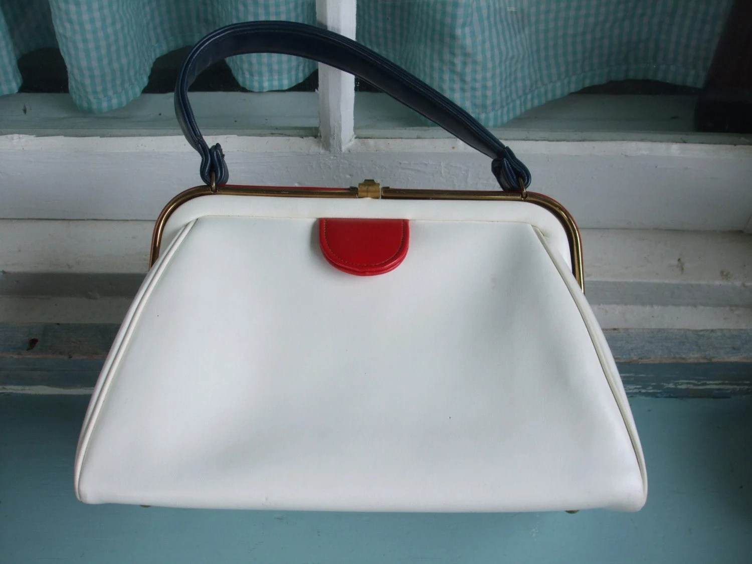 Vintage Purse - Summer Red, White and Blue