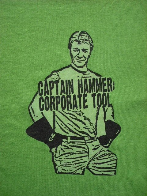 Captain Hammer Corporate Tool Shirt Medium