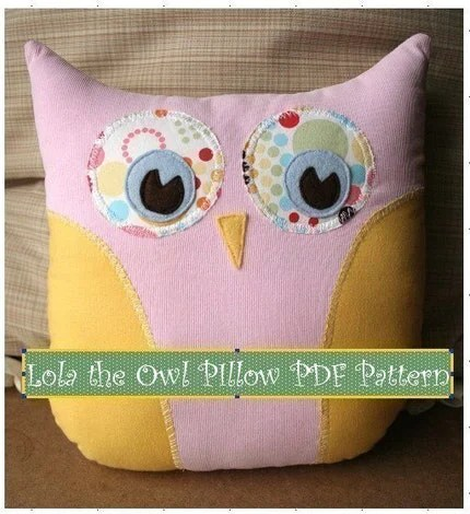 Lola the Owl PIllow PDF Pattern Simple Fun Creative