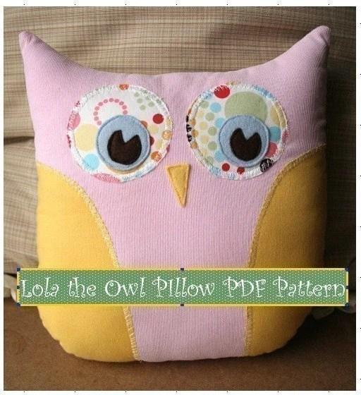 Lola the Owl PIllow PDF Pattern Simple Fun Creative