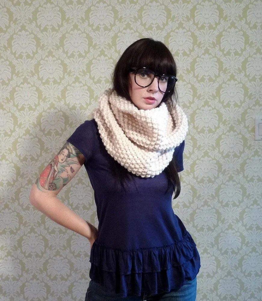 these cowl sort of things are also very popular. $60 from yarnovermovement.