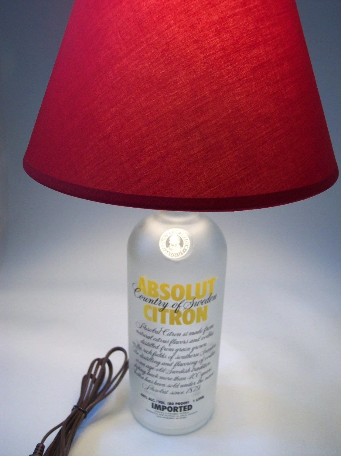 Absolute Citron Bar Lamp, Recycled Bottle Glass Lighting