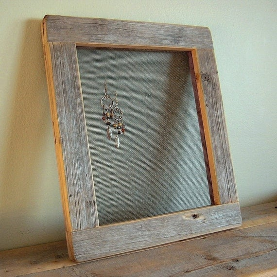 Barnwood Earring Holder FRAME...rustic refined