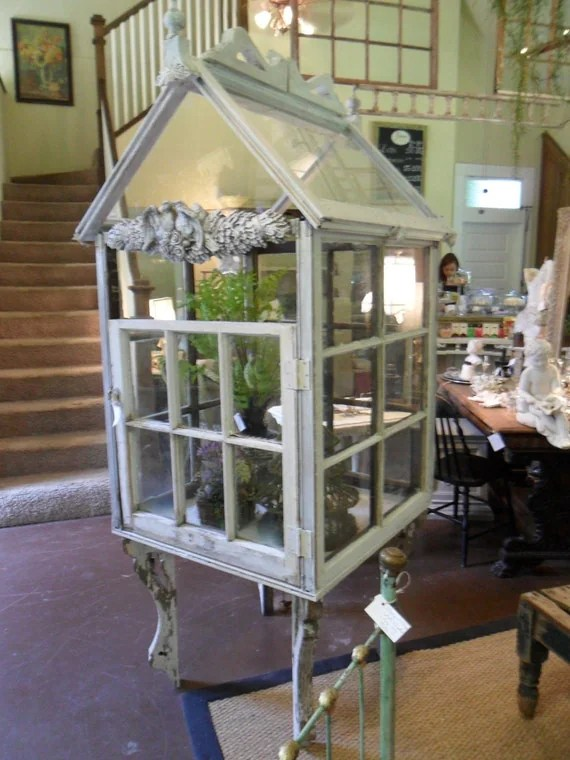 JUST REDUCED Unbelievable Shabby Chic Greenhouse