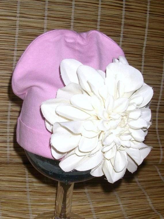 Newborn Spunky Pink Flower Hat