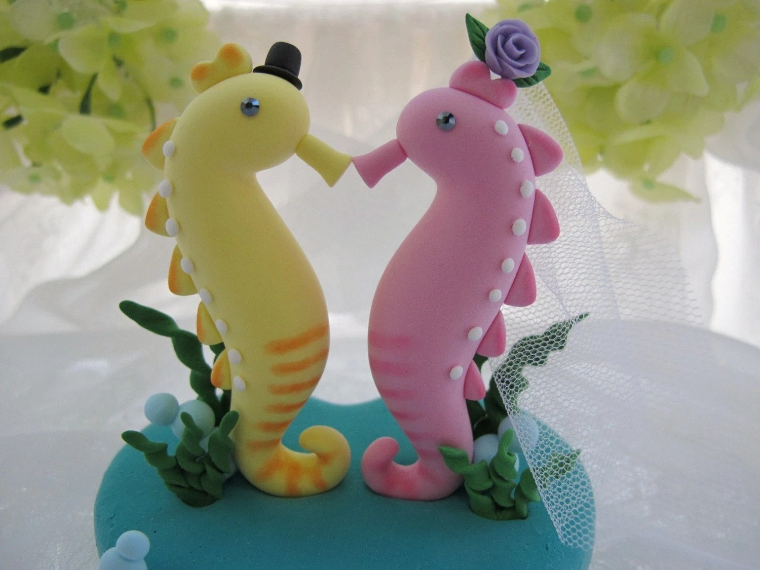 LOVE ANGELS Wedding Cake Topper-love seahorse