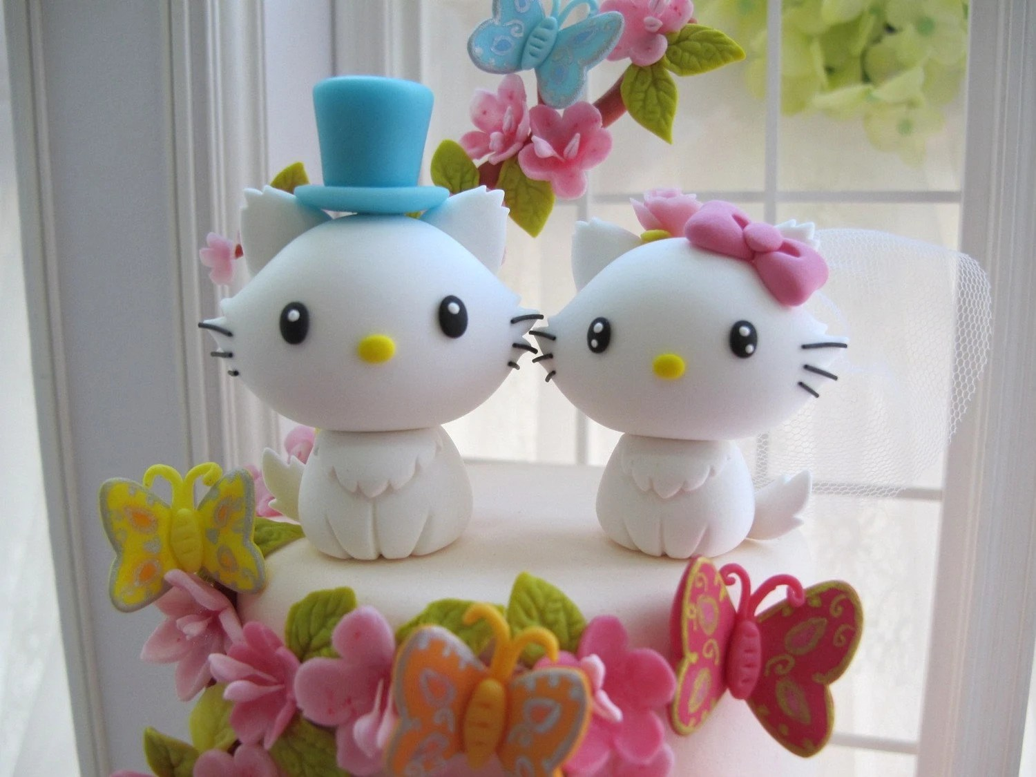 LOVE ANGELS Wedding Cake Topper-love kitty,love cat