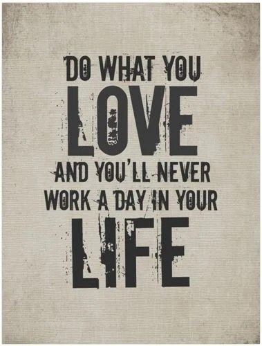 Quote / Work / Life / 8 x 10 Digital Typography Poster