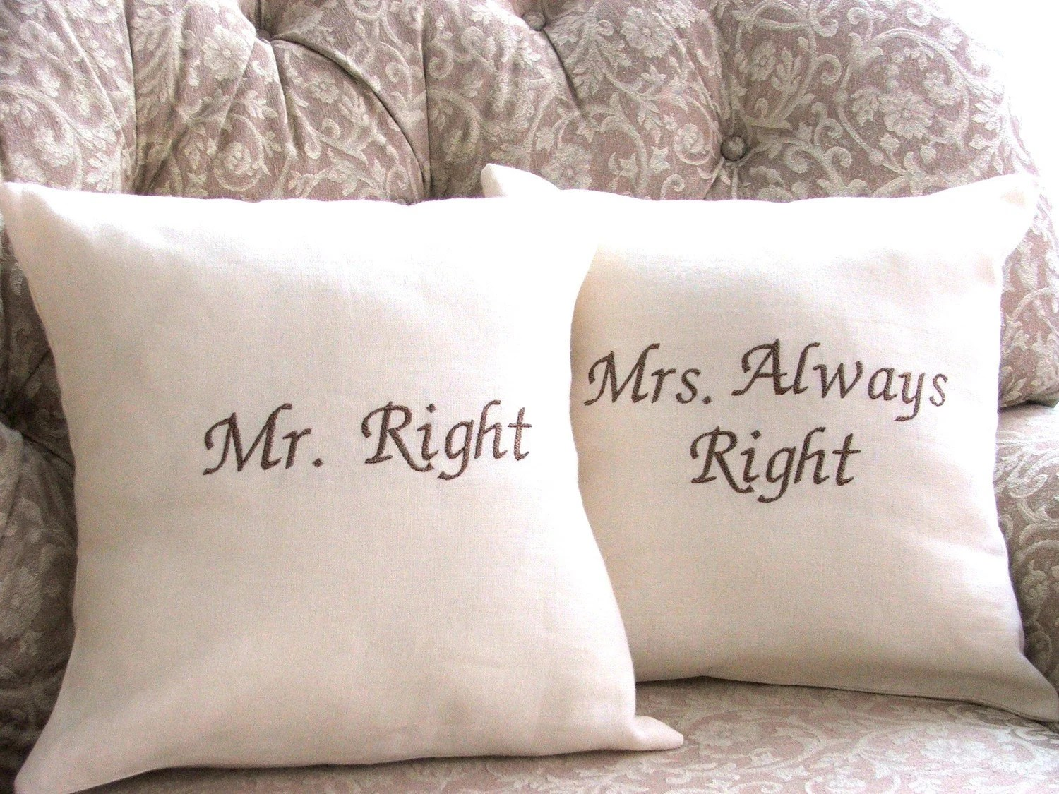 Mr Right Pillow