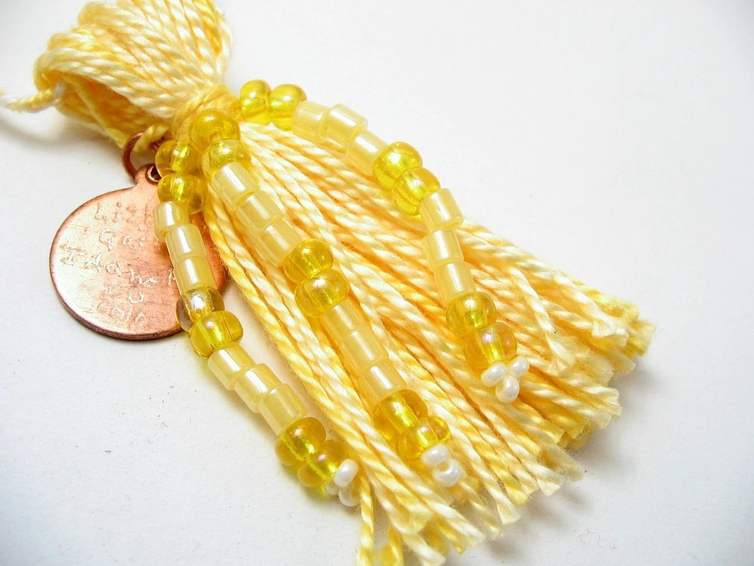 Custom Beaded Tassel Sample