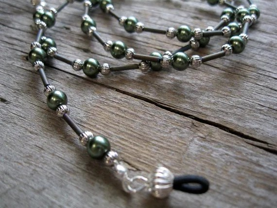 Green Pearl Eyeglass Chain