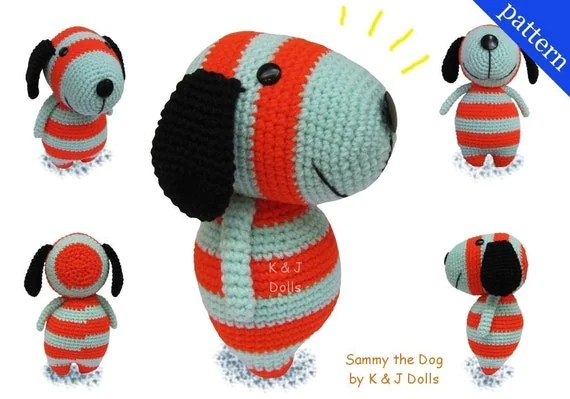 Sammy the Dog - PDF Amigurumi crochet pattern