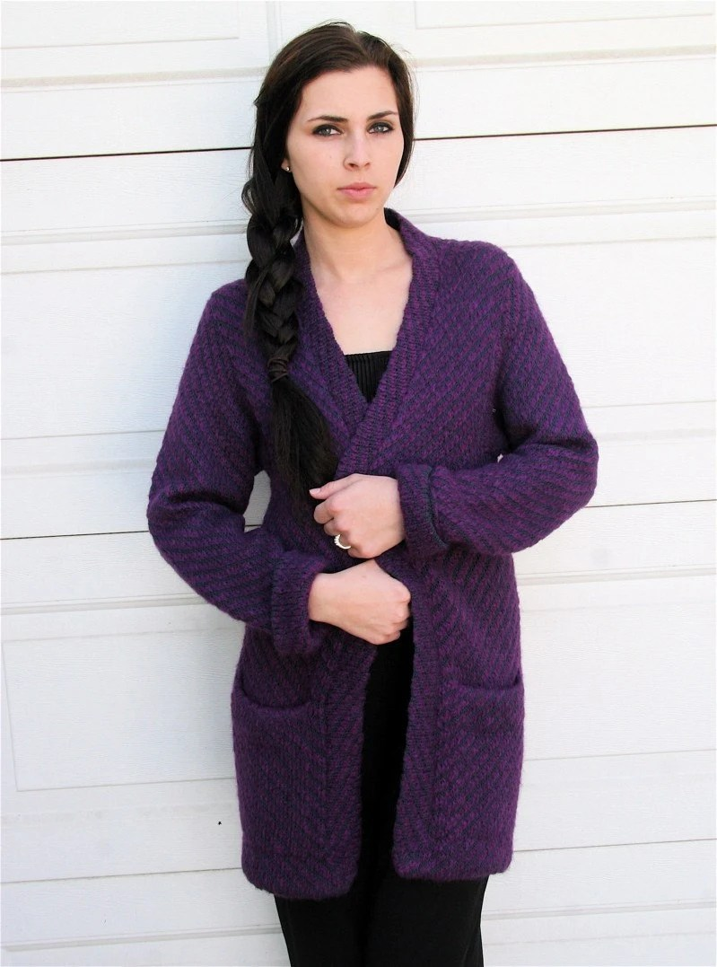 Purple Boyfriend Cardigan