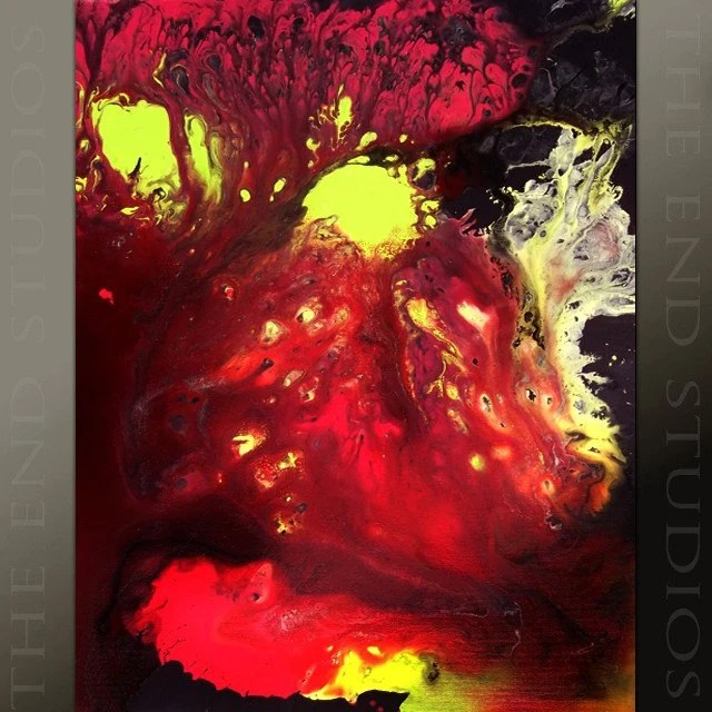 Unique Original Modern Abstract Contemporary Fine Art Painting by Jeremy Womack - 18''x24'' Canvas - Burning Desire