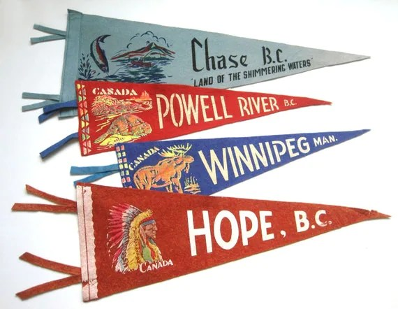 Instant Vintage Souvenir Pennant Collection
